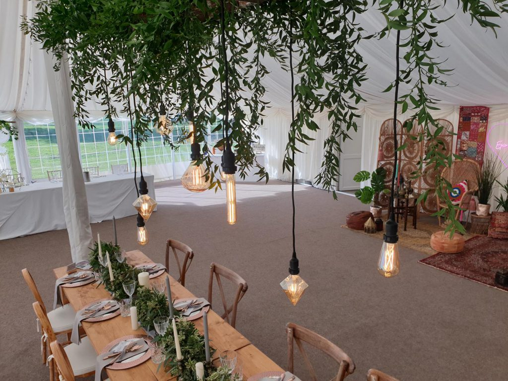 Feature Festoon Hire at Barrington Hall