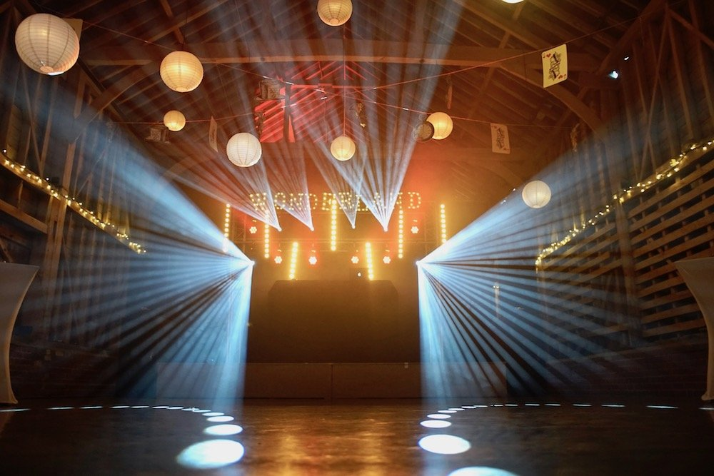 Childerley Barn Cambridge Event Lighting